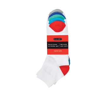 Men's Ankle Socks, 5 Pairs