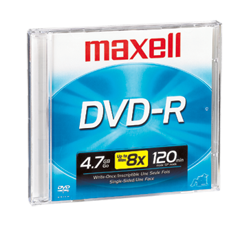 Image of product Maxell - DVD-R 4.7 GB, 1 unit