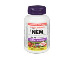 Image of product Webber Naturals - Nem Natural Eggshell Membrane 500 mg, 30 units