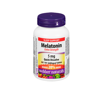Image of product Webber Naturals - Melatonin Extra Strength, 120 units