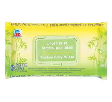 Bamboo Baby Wipes, 40 units