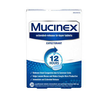Expectorant 12 Hours 600 Mg 20 Units Mucinex Tablet And Capsule