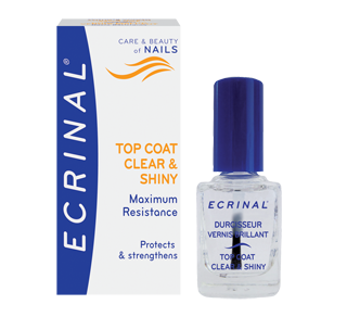 Clear and Shiny Strengthening Topcoat, 10 ml