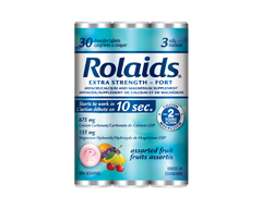 Image of product Rolaids - Rolaids Ultra Strength, 3 x 10 units, Assorted Fruit