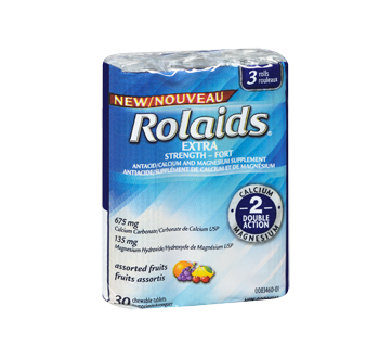 Image 2 of product Rolaids - Extra Strength Tablets, 3 x 10 units, Fruits