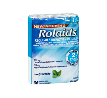 Image 2 of product Rolaids - Regular Strength Tablets, 3 x 12 units, Mints