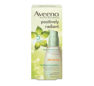 Positively Radiant Daily Moisturizer SPF 30, 75 ml – Aveeno : Moisturizer