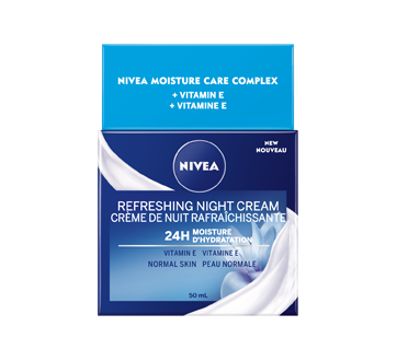 Image 1 of product Nivea - Essentials 24H Moisture Boost + Refresh Night Cream, 50 ml, Normal Skin