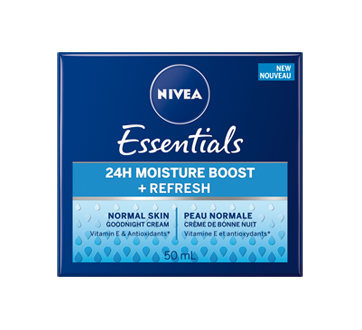 Image 2 of product Nivea - Essentials 24H Moisture Boost + Refresh Night Cream, 50 ml, Normal Skin
