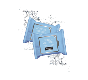 Image 3 of product Neutrogena - All-in-one Make-up Removing Cleansing Wipes, 2 x 25 units