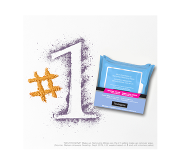 Image 4 of product Neutrogena - All-in-one Make-up Removing Cleansing Wipes, 2 x 25 units