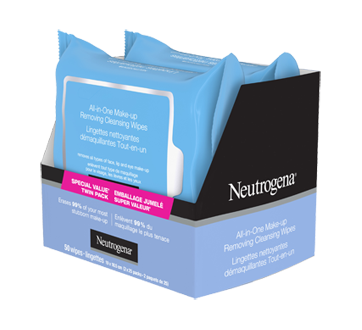 Image 7 of product Neutrogena - All-in-one Make-up Removing Cleansing Wipes, 2 x 25 units