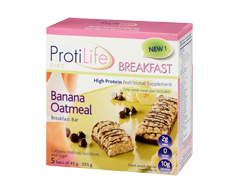 Image of product ProtiLife - Diet Breakfast Bar, 5 x 45 g, Banana Oatmeal