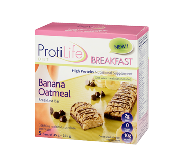 Image 1 of product ProtiLife - Diet Breakfast Bar, 5 x 45 g, Banana Oatmeal