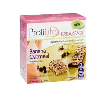 Image 2 of product ProtiLife - Diet Breakfast Bar, 5 x 45 g, Banana Oatmeal