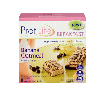 Image 3 of product ProtiLife - Diet Breakfast Bar, 5 x 45 g, Banana Oatmeal