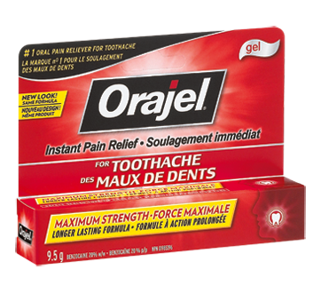 Image Of Product Orajel Toothache Maximum Strength Pain Relief Gel 9 5 G