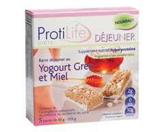 Image of product ProtiLife - Diet Breakfast Bar, 5 x 45 g, Greek Yogurt and Honey