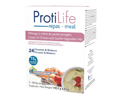 Image of product ProtiLife - Diet Instant Soup Mix, 5 x 38.5 g, Cream of Chicken And Garden Vegetables