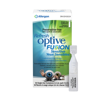 Image of product Allergan - Refresh Optive Fusion, 30 x 0.4 ml, Sensitive Eyes