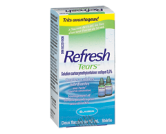 Image of product Allergan - Refresh Tears Lubricant Eye Drops, 2 x 15 ml