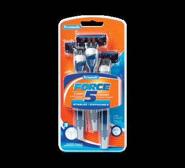 Force 5 Disposable Razors, 3 units