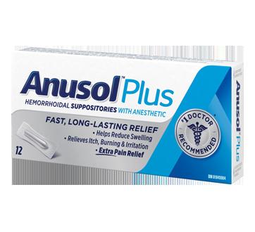 Image of product Anusol - Anusol Plus Suppositories, 12 units