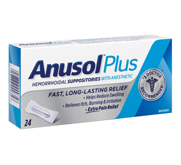 Image 1 of product Anusol - Anusol Plus Suppositories, 24 units