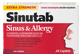 Thumbnail 1 of product Sinutab - Extra Strength Sinus & Allergy Caplets, 24 units