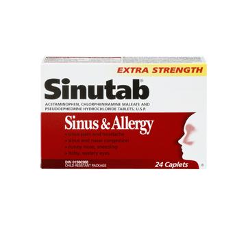 Image 3 of product Sinutab - Extra Strength Sinus & Allergy Caplets, 24 units