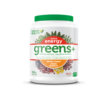 Image of product Genuine Health - Greens+ Extra Energy, 399 g, Orange