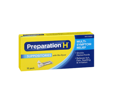 Image 2 of product Preparation-H - Preparation-H Suppositories, 12's