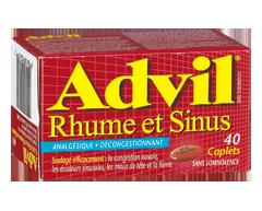 Image of product Advil - Advil Cold & Sinus Caplets, 40 units