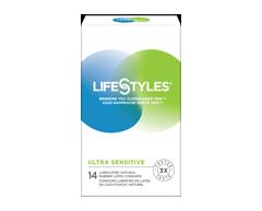 Image of product LifeStyles - Ultra Sensitive Condoms, 12 units