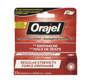 Image 1 of product Orajel - Regular Strength for Toothache Instant Pain Relief Gel, 5.3 g