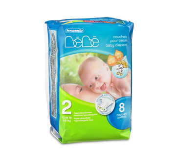 Baby Diapers, 8 units