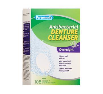 Antibacterial Denture Cleanser Overnight, 108 units, Mint