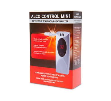 Image of product Alco Prévention Canada - Control Mini Breathalyzer, 1 unit