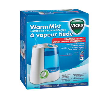 warm mist humidifier vicks humidifier jean coutu. Black Bedroom Furniture Sets. Home Design Ideas