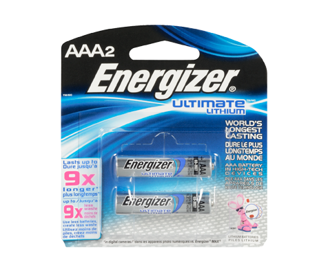 batteries ultimate lithium aaa 2 energizer electronics jean coutu. Black Bedroom Furniture Sets. Home Design Ideas