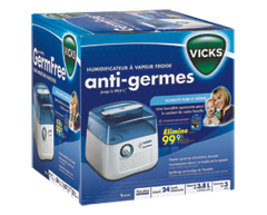 Image of product Vicks - Germ Free Cool Mist Humidifier, 1 unit