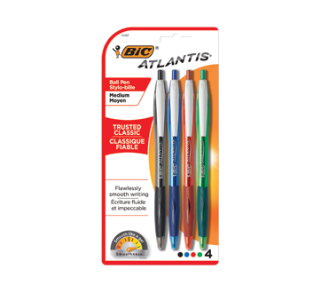Image of product Bic - Atlantis Retractable Ball Pen, 4 units
