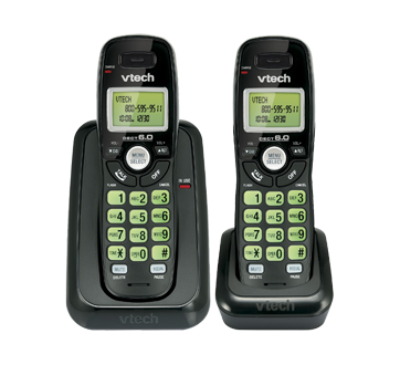 Cordless Phone with 2 handsets and Caller ID, 1 unit