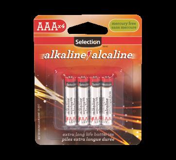 AAA Size Alkaline Battery, 4 units