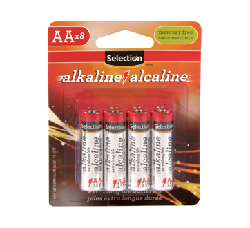 AA Size Alkaline Battery, 8 units