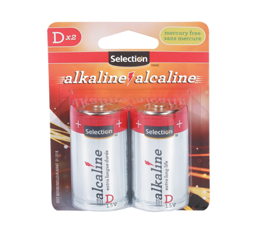 D Size Alkaline Battery, 2 units