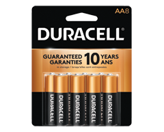 Image of product Duracell - Coppertop AA Alkaline Batteries, 8 batteries