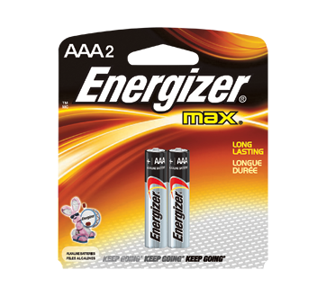 Image 1 of product Energizer - Batteries, Regular Packs, Max AAA-2