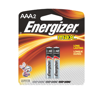 Image 2 of product Energizer - Batteries, Regular Packs, Max AAA-2