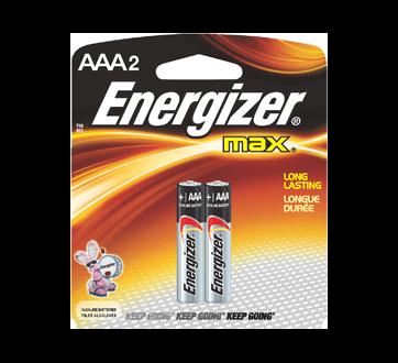Image 2 of product Energizer - Batteries, Regular Packs, Max AAA-2